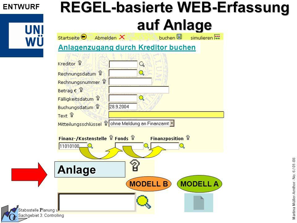REGEL-basierte WEB-Erfassung auf Anlage