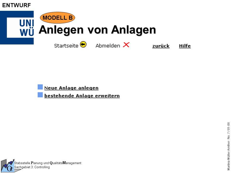 Anlegen von Anlagen MODELL B Der Bestandsbuchhalter entscheidet, ob er