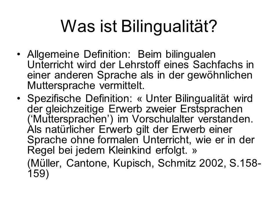 Was ist Bilingualität