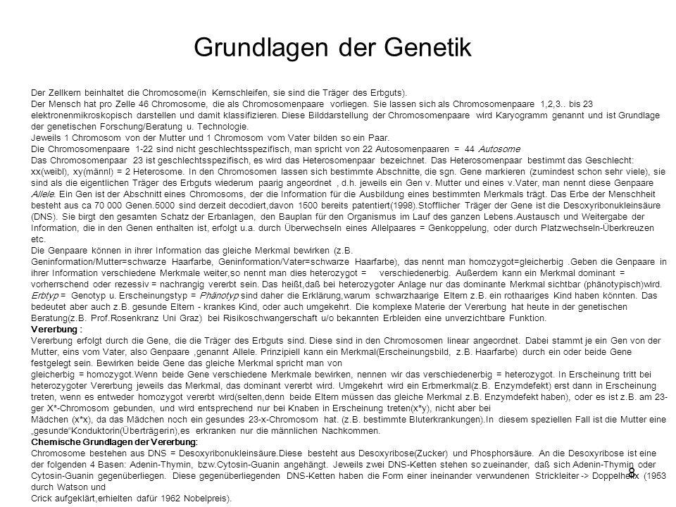 Grundlagen der Genetik