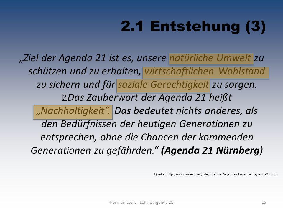 Norman Louis - Lokale Agenda 21