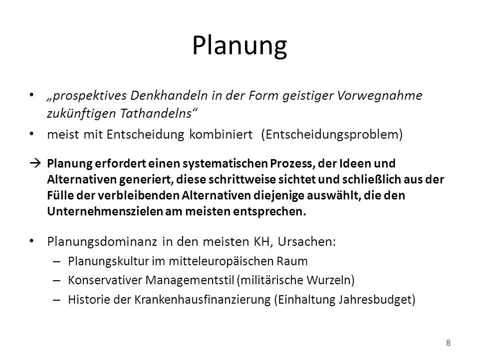 """Planung """"prospektives Denkhandeln in der Form geistiger Vorwegnahme zukünftigen Tathandelns"""