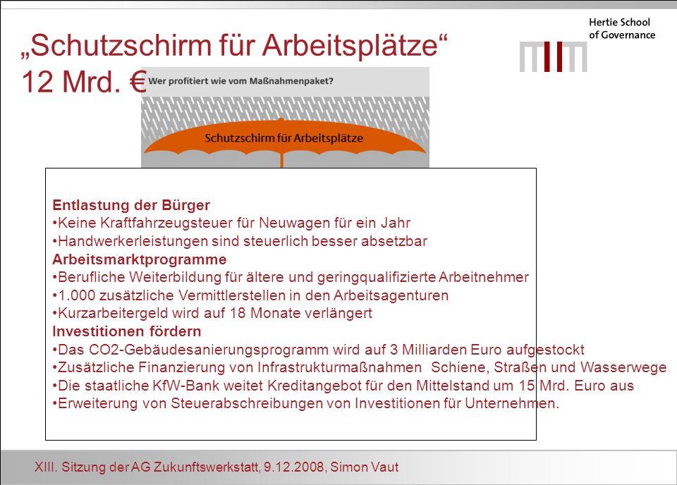 """""""Schutzschirm für Arbeitsplätze 12 Mrd. €"""