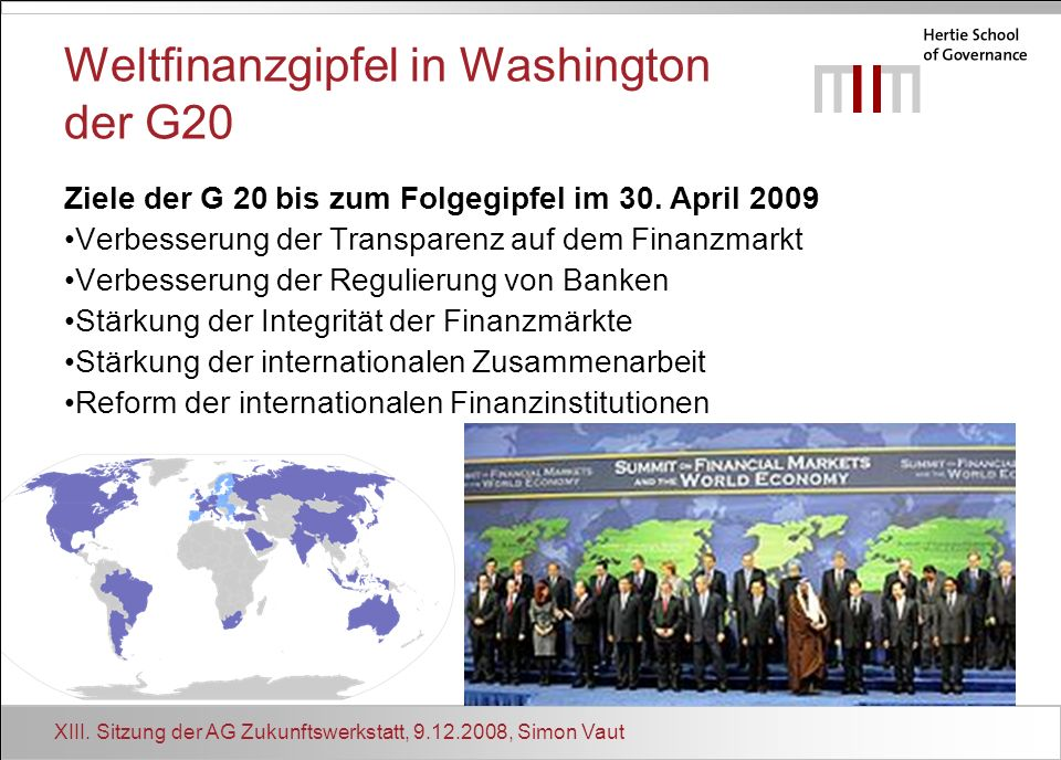 Weltfinanzgipfel in Washington der G20