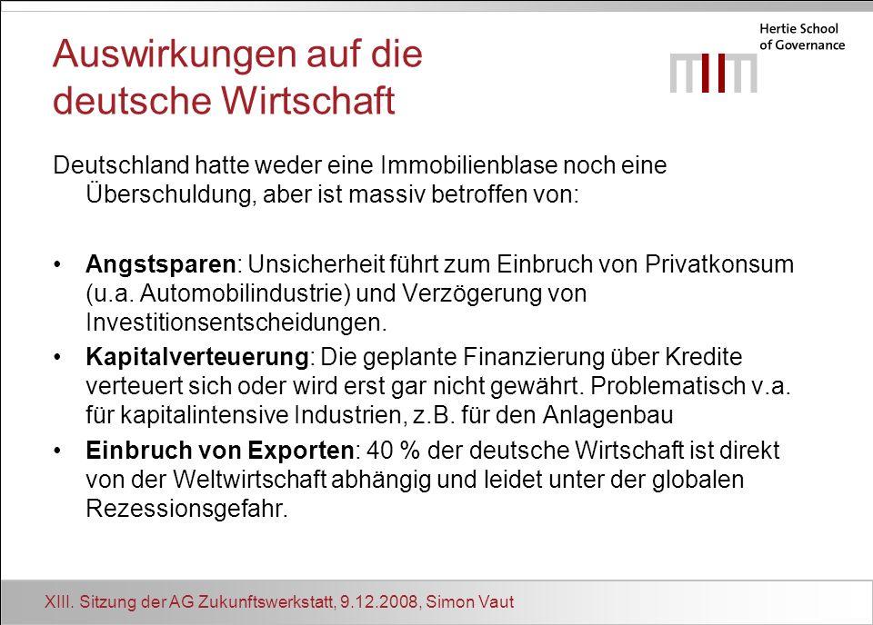 Auswirkungen auf die deutsche Wirtschaft
