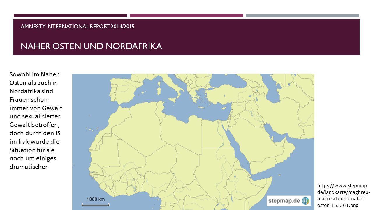 Amnesty international report 2014/2015 naher osten und nordafrika