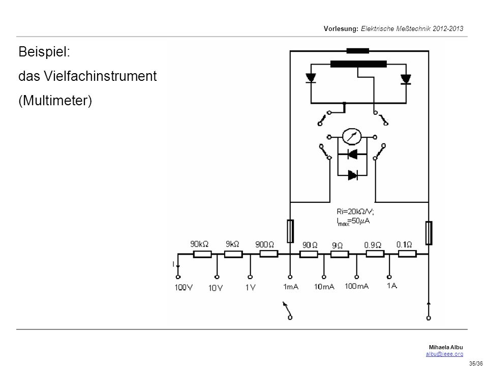 Beispiel: das Vielfachinstrument (Multimeter)