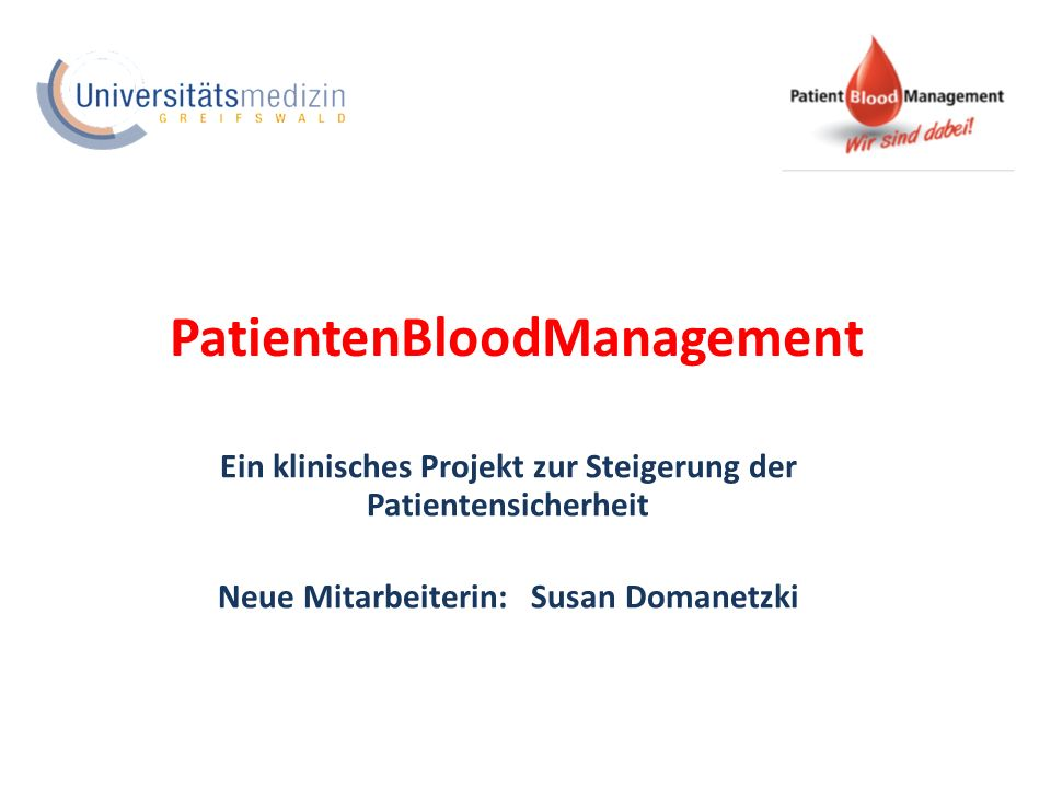 PatientenBloodManagement