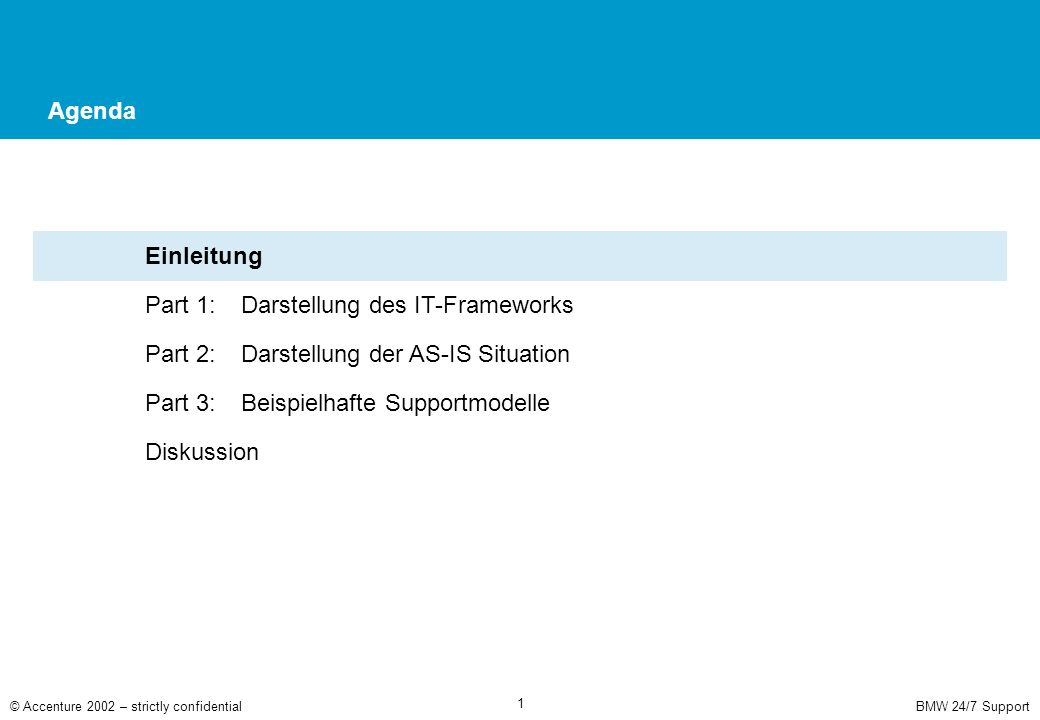 Part 1: Darstellung des IT-Frameworks
