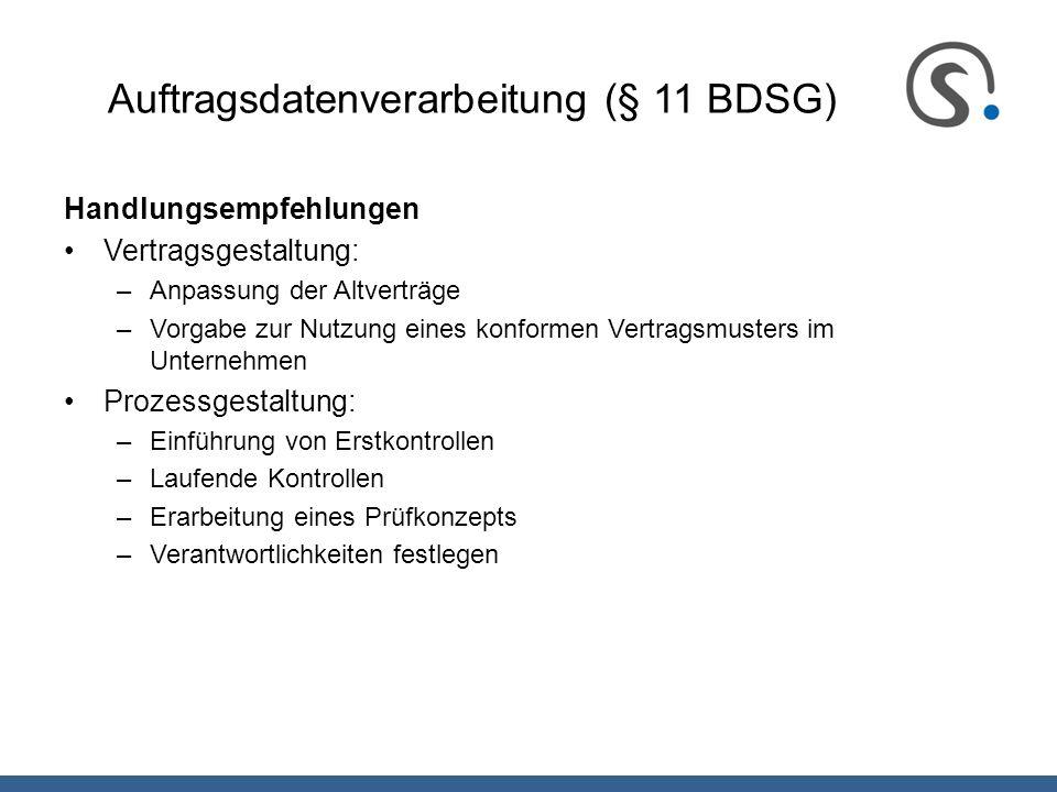 Auftragsdatenverarbeitung (§ 11 BDSG)