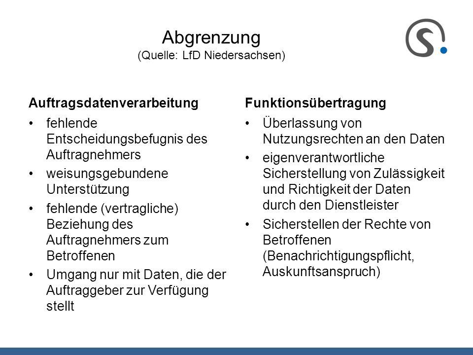Abgrenzung (Quelle: LfD Niedersachsen)