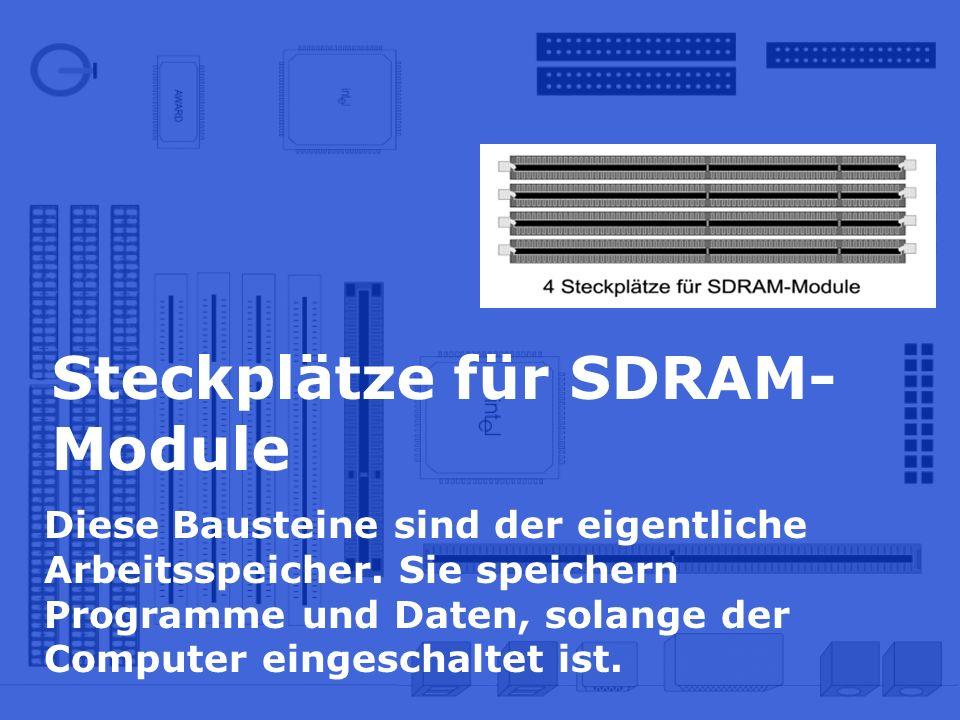 Steckplätze für SDRAM-Module