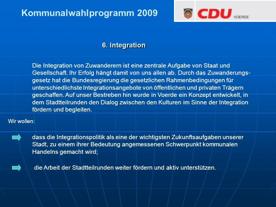 Kommunalwahlprogramm 2009