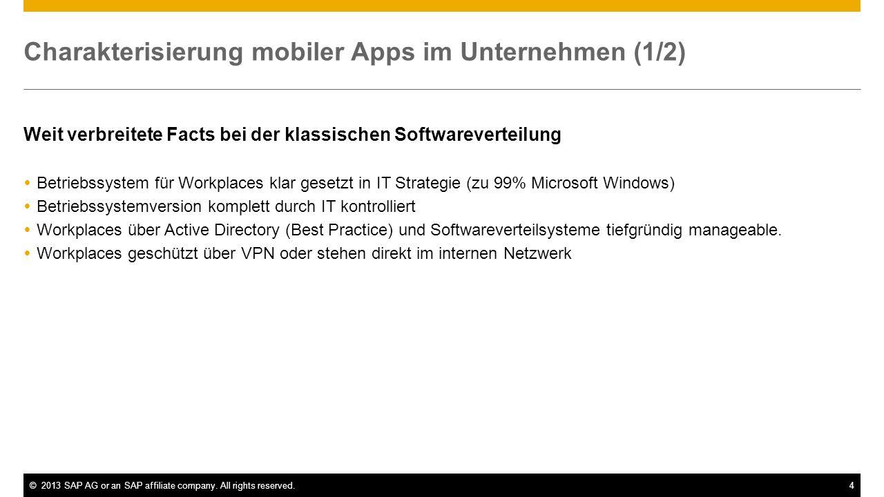 Charakterisierung mobiler Apps im Unternehmen (1/2)