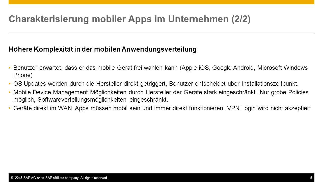 Charakterisierung mobiler Apps im Unternehmen (2/2)