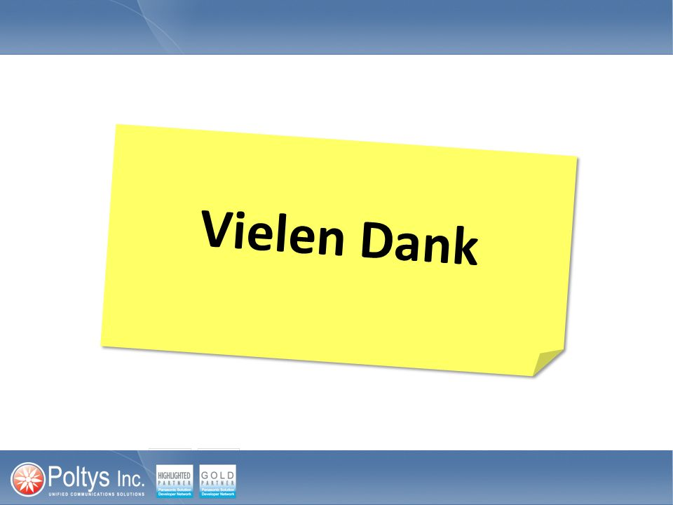 Vielen Dank Thank you for your participation. This portion of the course is now complete.