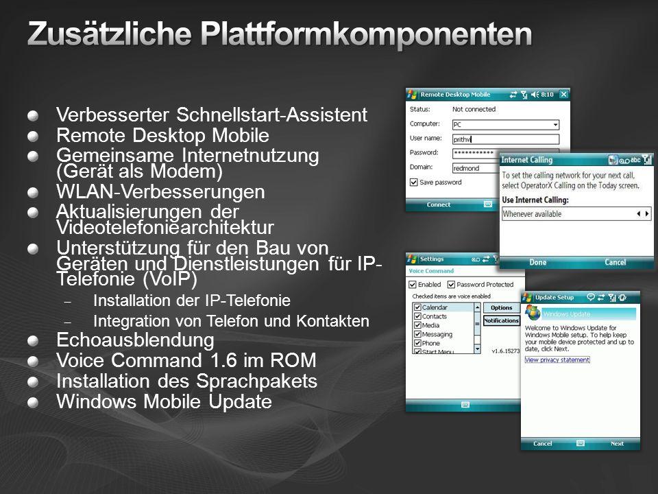Zusätzliche Plattformkomponenten