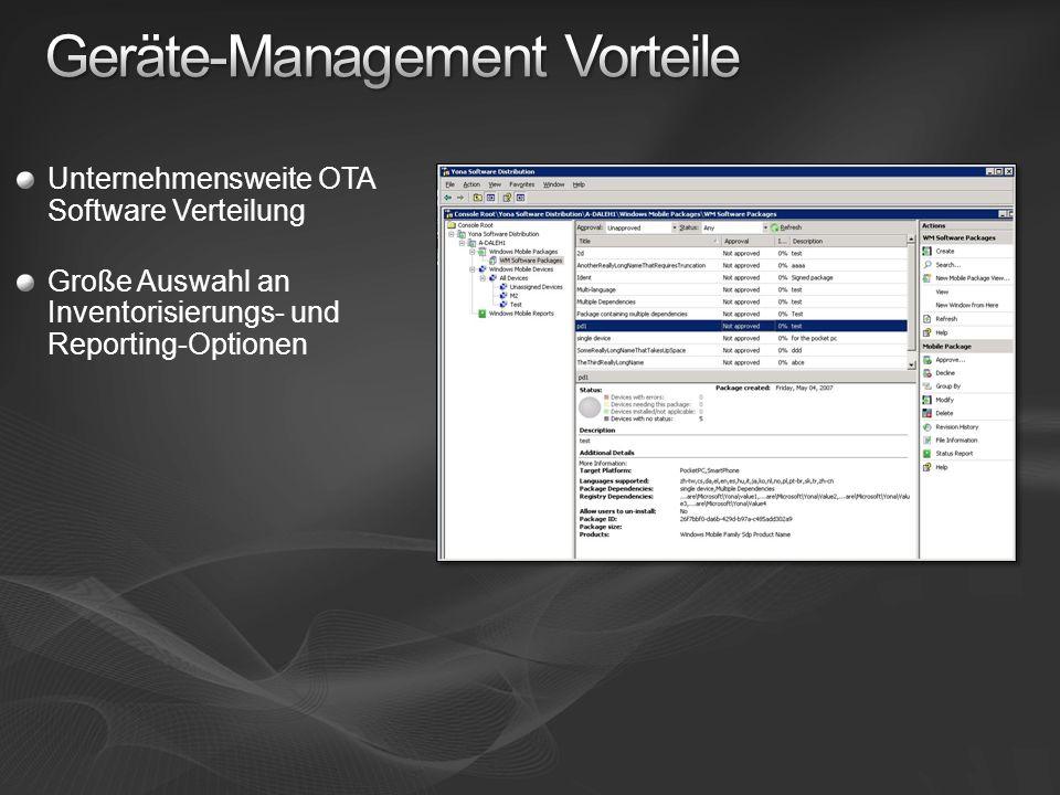 Geräte-Management Vorteile