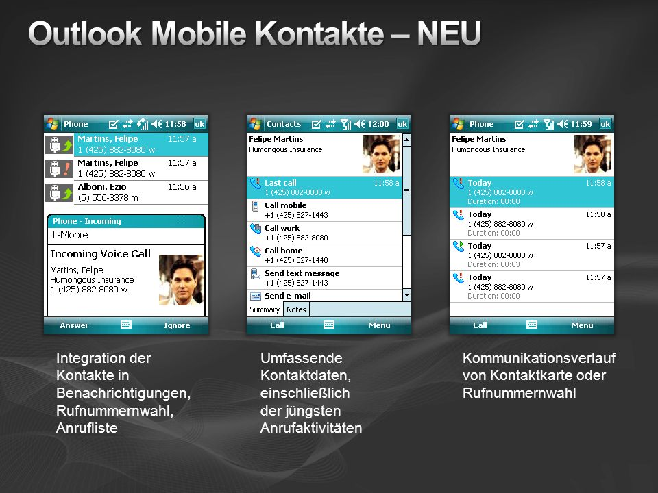 Outlook Mobile Kontakte – NEU