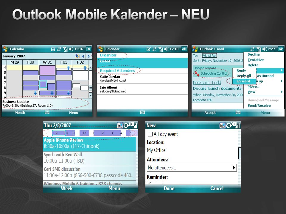 Outlook Mobile Kalender – NEU