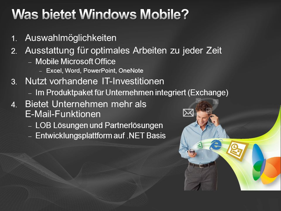 Was bietet Windows Mobile
