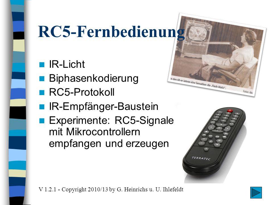 RC5-Fernbedienung IR-Licht Biphasenkodierung RC5-Protokoll