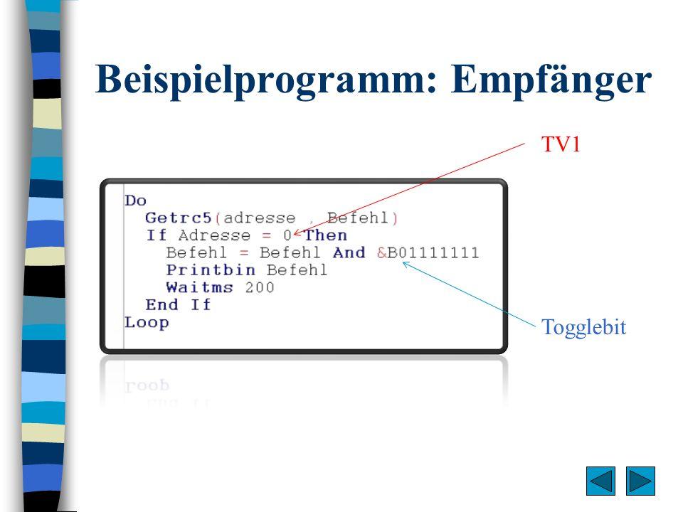 Beispielprogramm: Empfänger