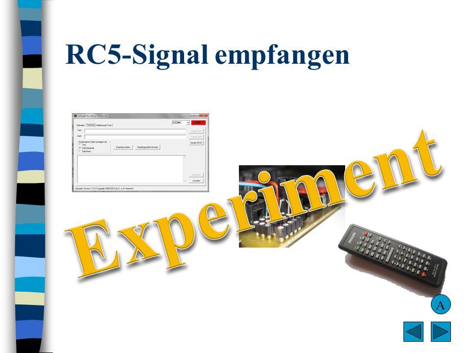 RC5-Signal empfangen Experiment A