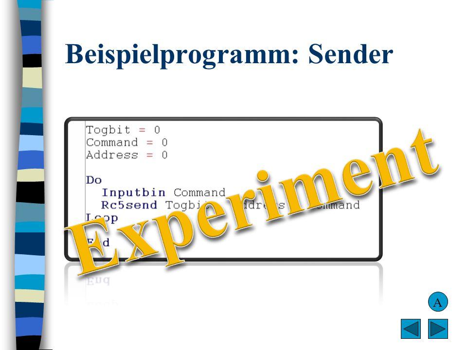 Beispielprogramm: Sender