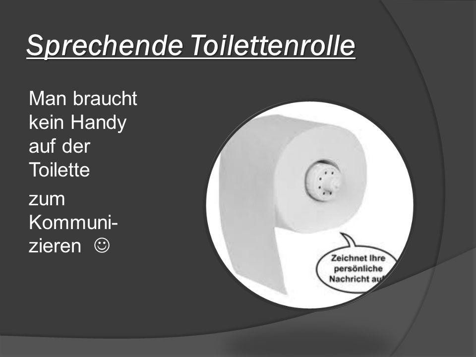Sprechende Toilettenrolle