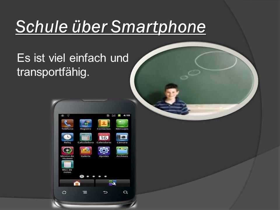 Schule über Smartphone