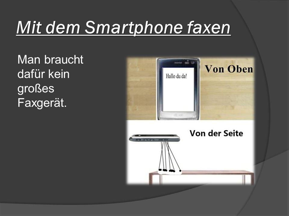 Mit dem Smartphone faxen