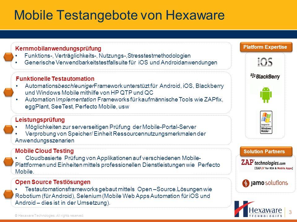 Mobile Testangebote von Hexaware