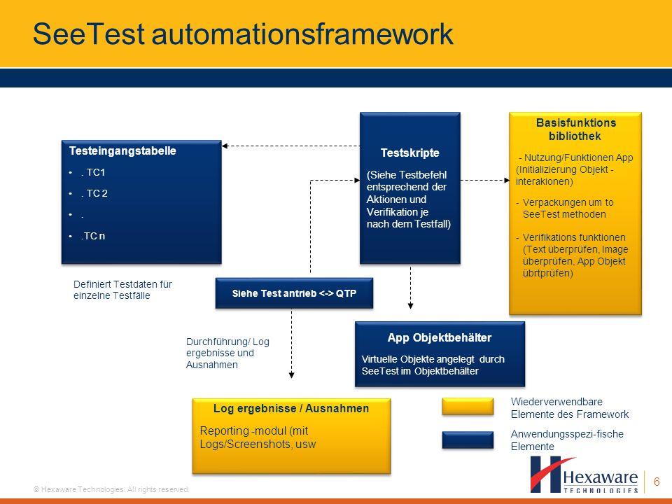 SeeTest automationsframework
