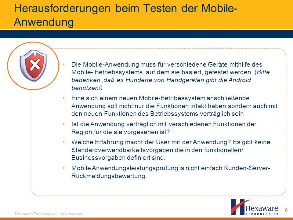 Herausforderungen beim Testen der Mobile-Anwendung