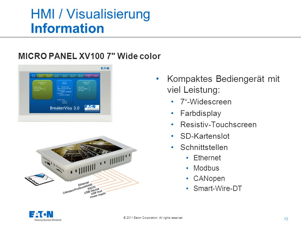 HMI / Visualisierung Information