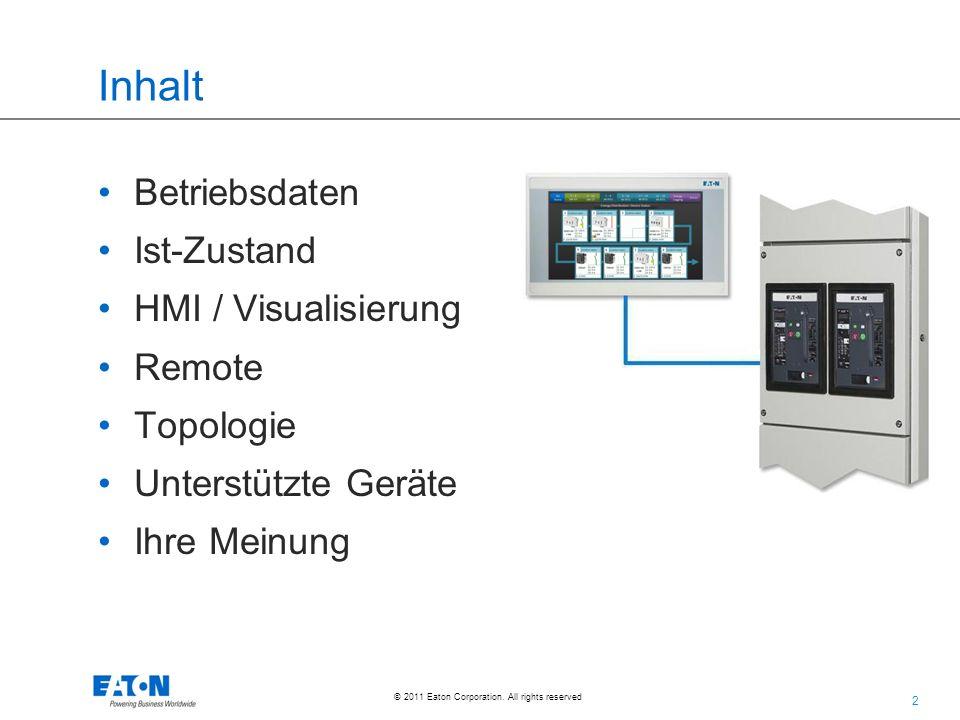 Inhalt Betriebsdaten Ist-Zustand HMI / Visualisierung Remote Topologie