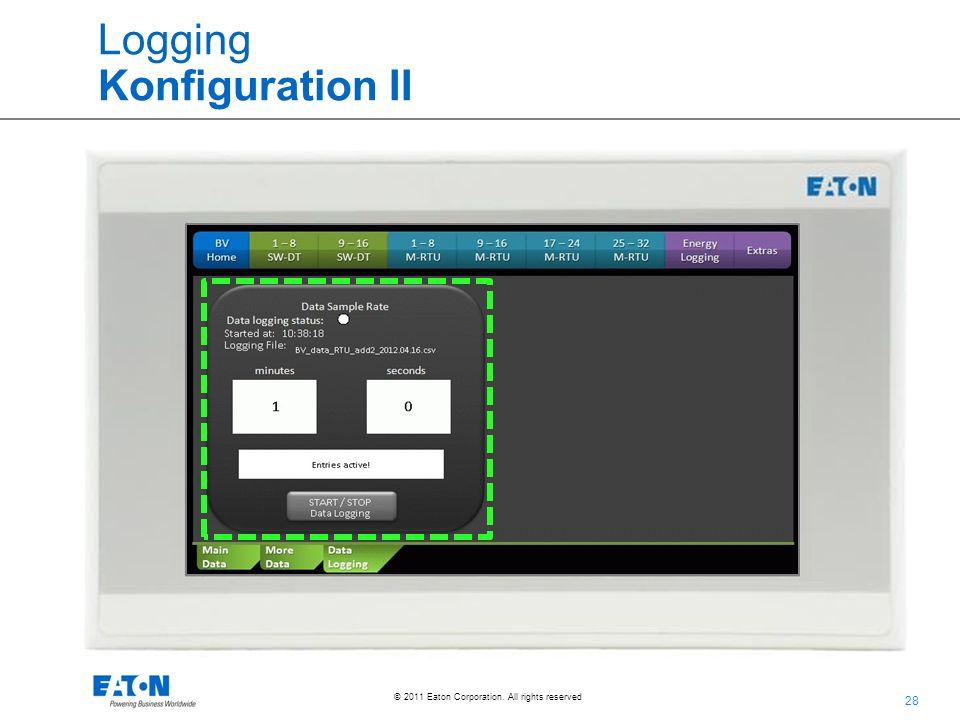 Logging Konfiguration II