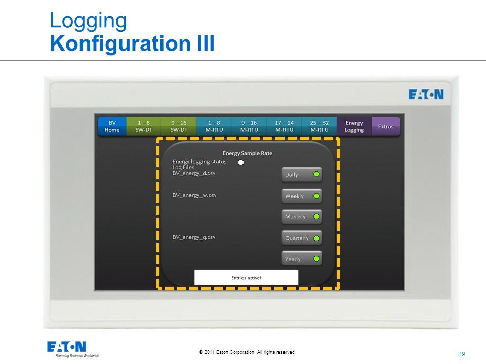 Logging Konfiguration III