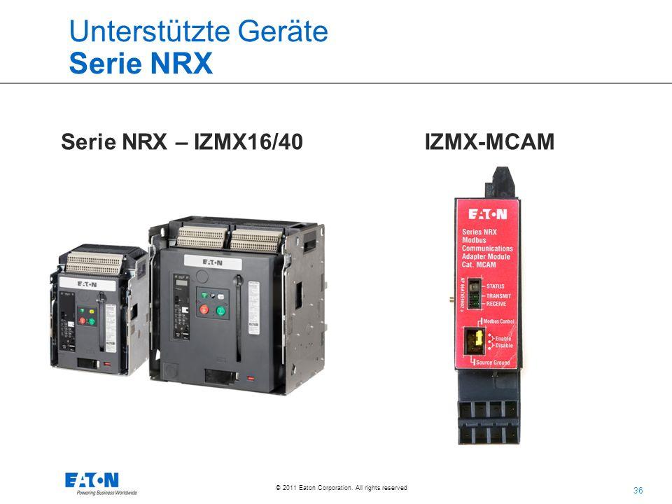 Unterstützte Geräte Serie NRX
