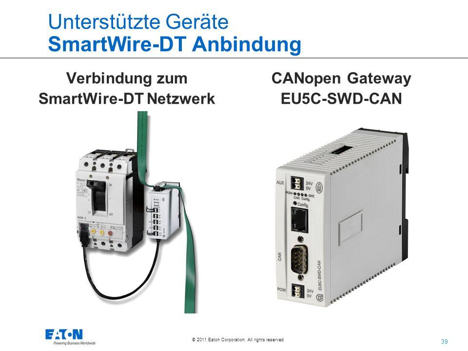 Unterstützte Geräte SmartWire-DT Anbindung