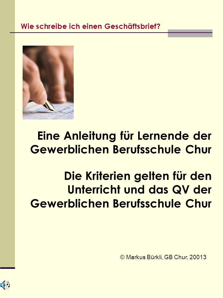 Eine Anleitung für Lernende der Gewerblichen Berufsschule Chur