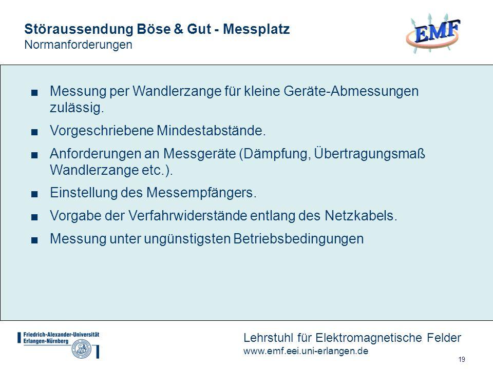 Störaussendung Böse & Gut - Messplatz Normanforderungen