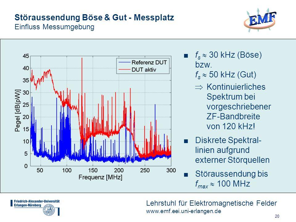 Störaussendung Böse & Gut - Messplatz Einfluss Messumgebung