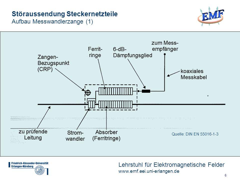 Störaussendung Steckernetzteile Aufbau Messwandlerzange (1)