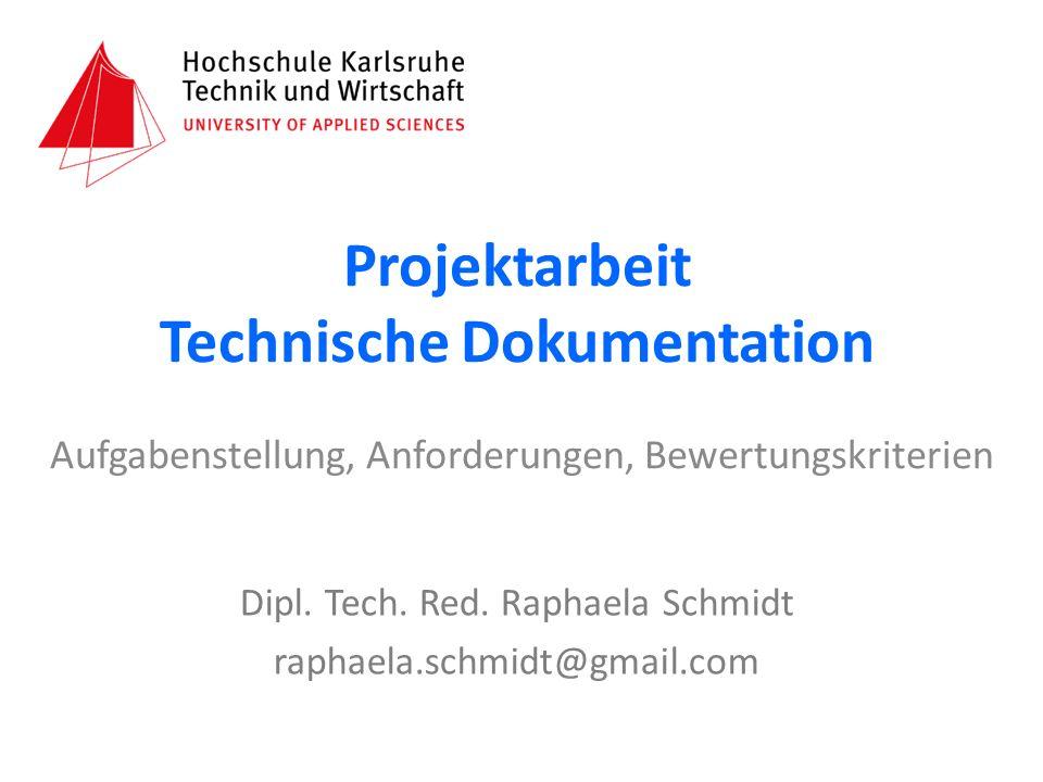Projektarbeit Technische Dokumentation