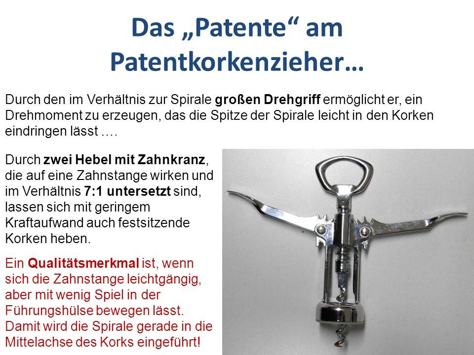 "Das ""Patente am Patentkorkenzieher…"