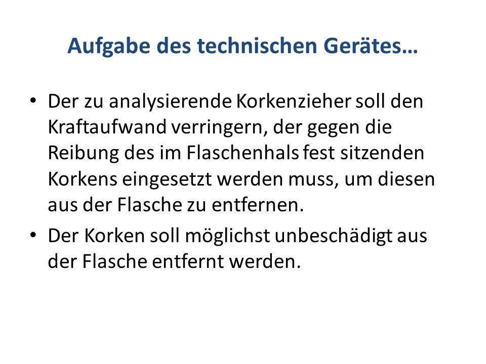 Aufgabe des technischen Gerätes…