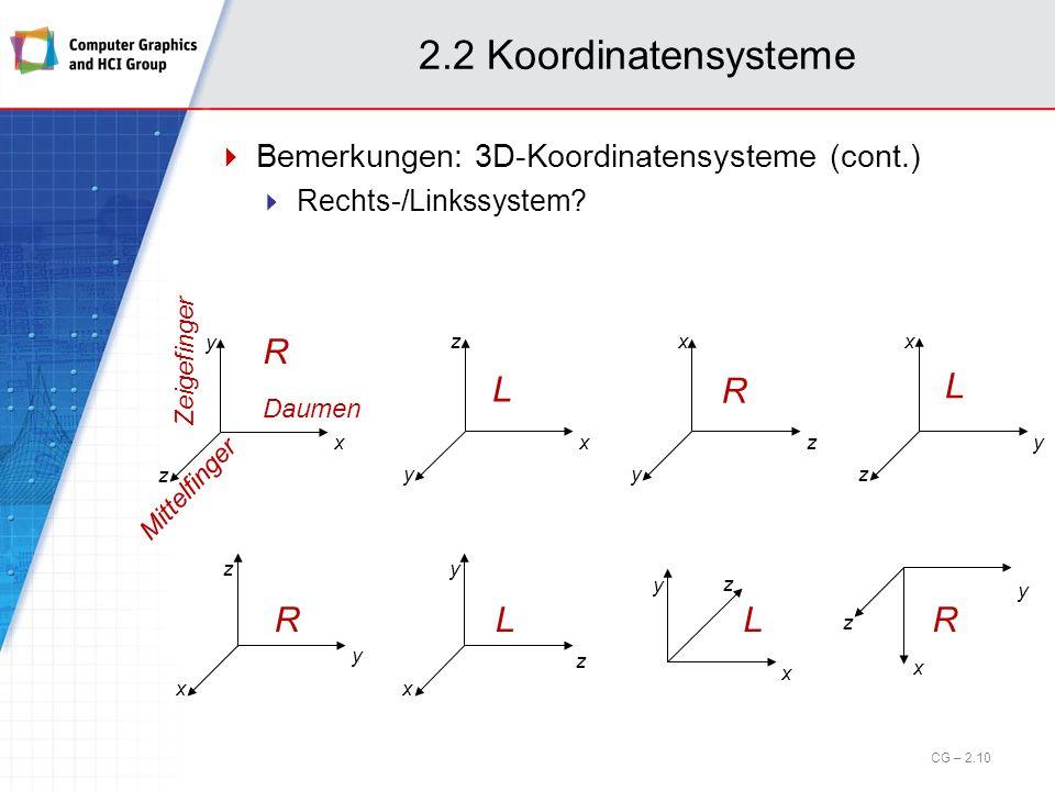 2.2 Koordinatensysteme R L R