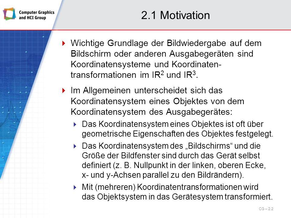 2.1 Motivation